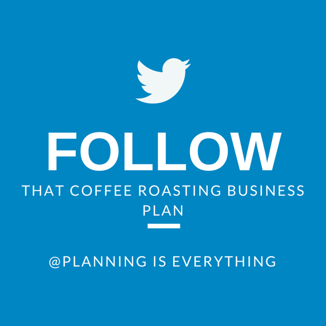 Coffee roaster business plan